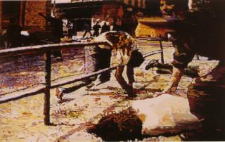 Simeón Saiz Ruiz, Matanza de civiles en Sarajevo por proyectiles caídos junto al mercado municipal, lunes 28 de agosto de 1995, 1998 Universitat de València. Col·lecció Martínez Guerricabeitia
